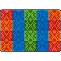 Bull's Eye Blocks Educational Rug