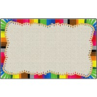 Colored Pencils Educational Rug