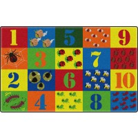 Counting Critters Educational Rug