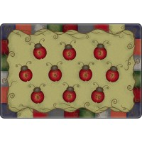 Tranquility Colors Lady Bug Numbers Educational Rug