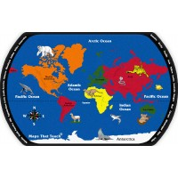 Maps That Teach Educational Rug