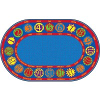Number Circles Bilingual Educational Rug