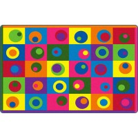 Silly Circles Educational Rug