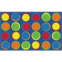 Sitting Spots in Primary Colors Educational Rug