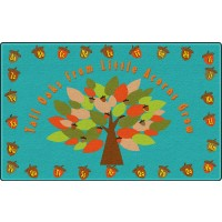 Tall Oaks From Little Acorns Grow Educational Rug