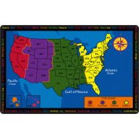 Time Zone Educational Rug