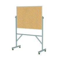 Aluminum Frame Reversible Natural Cork Board by Ghent