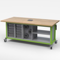 Haskell Maker Table - Mobile STEAM Table with Storage - Choose Color & Configuration