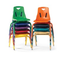 Jonti-Craft Berries® Stacking Chair with Colored Powder-Coated Legs - Select Size and Color