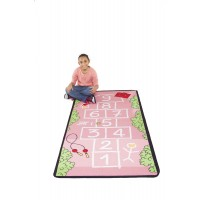 Chak on Pink Sidewalk Play rug