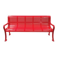 Roll-Formed Perforated Benches with Arms