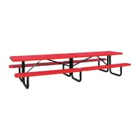 12' Standard Expanded Metal Portable Picnic Table