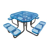 "46"" Octagonal Expanded Metal Portable Table"