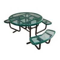 "46"" Round Expanded Metal ADA Table"
