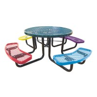 "46"" Round Expanded Metal Children's Portable Table"