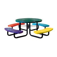 "46"" Round Perforated Metal Children's Portable Table"