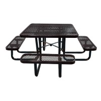 "46"" Square Expanded Metal Portable Table"