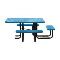 "46"" x 58"" Expanded Metal ADA Table"