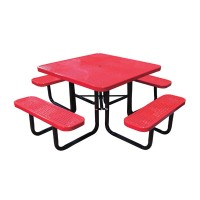 "46"" Square Perforated Metal Portable Table"