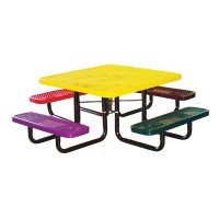 "46"" Square Expanded Metal Children's Portable Table"