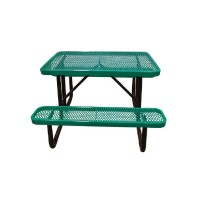 4' Standard Expanded Metal Portable Picnic Table