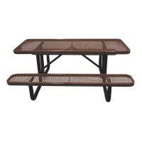 6' Standard Expanded Metal Portable Picnic Table