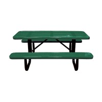 6' Standard Perforated Metal Portable Picnic Table