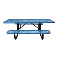 8' Standard Expanded Metal Portable ADA Picnic Table