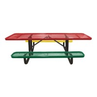 8' Expanded Metal Children's Portable ADA Picnic Table