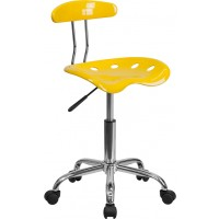 Vibrant Chrome Computer Task Chair with Tractor Seat - 17 Seat Options