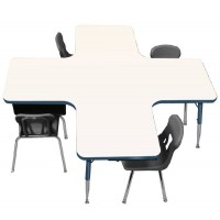 "60"" x 60"" Collaboration Station Colorful-Edge Dry-Erase Markerboard Activity Table - Allied M660CS"