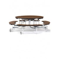 "60"" Round Bench Seat Cafeteria Table - National Public Seating MTR60B-PBTMPC"