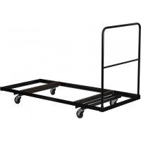 Black Steel Folding Table Dolly for 30x72 Rectangular Folding Tables