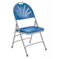 NPS 1100 Series Polyfold Fan Back Plastic Folding Chairs - Triple Brace - Three Colors - Must Order in Multiples of 4