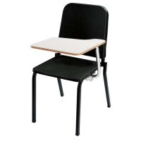 NPS Melody Music Stack Chair with Right Tablet Arm - Black - 8210-TA82R
