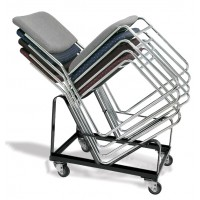 NPS 4-Wheel Dolly for use with NPS 8600 Series Stacking Chairs - Holds up to 20 Chairs - DY-86