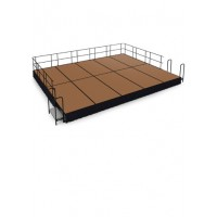 20' x 16' Hardboard Stage Package - Choose Colors - National Public Seating