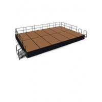 24' x 16' Hardboard Stage Package - Choose Colors - National Public Seating