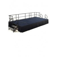 12' x 8' Carpeted Stage Package - Choose Colors - National Public Seating