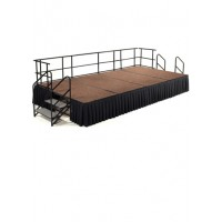 12' x 8' Hardboard Stage Package - Choose Colors - National Public Seating