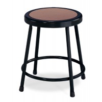 "NPS Black Lab Stool with Round Hardboard Seat - 18"" Fixed Height - 6218-10"