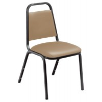 NPS 9100 Series Vinyl Upholstered Stack Chairs - Black Frame - Three Vinyl Colors - Must Order in Multiples of 4