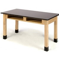 Phenolic Science Tables with Book Compartments by National Public Seating