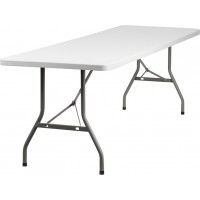 Granite White Plastic Folding Table - Multiple Sizes Available