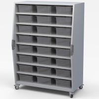 Haskell Mobile Tall Storage Cart - Open Storage or Tub Storage