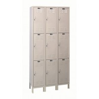 "Hallowell Value Max Locker, 36""W x 12""D x 78""H, 729 Parchment, Triple Tier, 3-Wide"