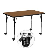 Mobile 24''W x 48''L Rectangular Activity Table - 4 Colors Available