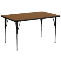 30''W x 72''L Rectangular Activity Table - 4 Colors Available