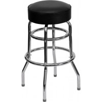 Double Ring Chrome Bar Stool