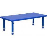 24''W x 48''L Height Adjustable Rectangular Plastic Activity Tables - 3 Colors Available